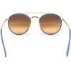 Óculos de Sol  Ray Ban Round Double Bridge RB3647N Dourado