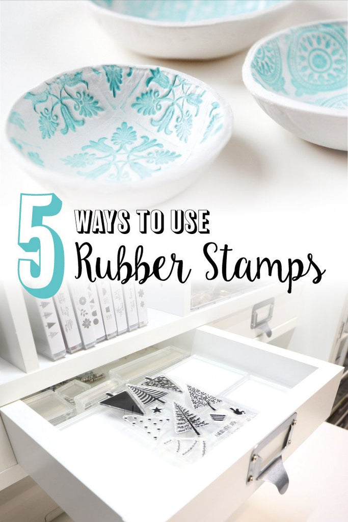 5 Ways to Use Rubber Stamps