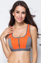 Load image into Gallery viewer, Zipper Push Up Shockproof Sports Bras - Dcoup.com