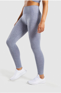 High Waisted Vital Seamless Leggings - Steel Blue - Dcoup.com