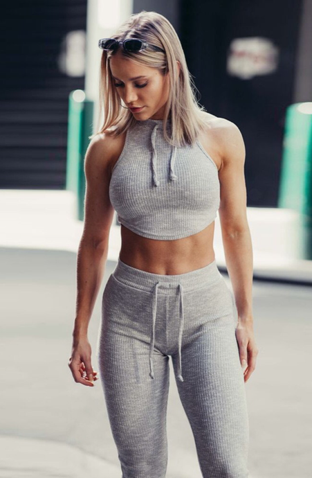 Vest Pants Fitness Suit - mydiscount-lk
