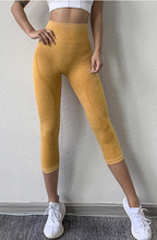 Load image into Gallery viewer, High Waisted Seamless Capri - Dcoup.com