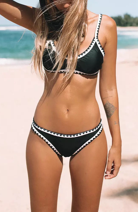 Crochet Trim Bikini Sets - Dcoup.com