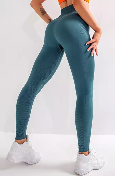 Energy High Waisted Tummy Control Legging - Dcoup.com