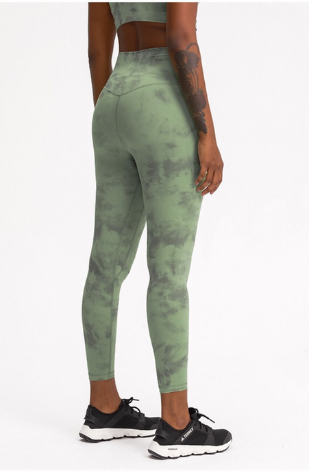 Diamond Dye High Waist Legging