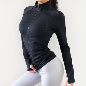 Mandarin Collar Running Jacket - Dcoup.com