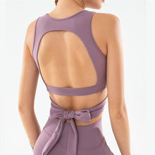 Load image into Gallery viewer, Twist Front Bowknot Sports Bra