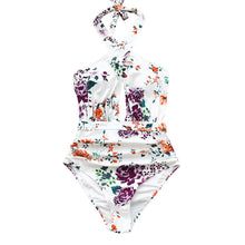 Load image into Gallery viewer, Ruched Halter One-Piece Swimsuit - Dcoup.com