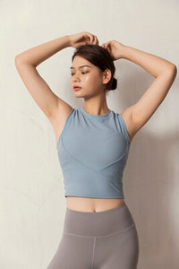 V Line Cross Pilates Crop Top