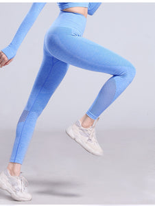 Seamless Tummy Control  Leggings - Dcoup.com