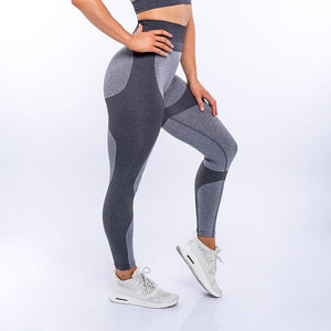 Seamless High Waisted Workout Leggings - mydiscount-lk