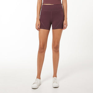 Side Pockets Tummy Shorts - Dcoup.com