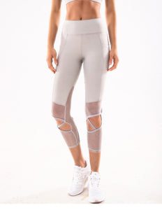 Hollow Out Capri Legging