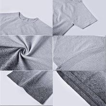 Load image into Gallery viewer, Seamless Short Sleeve Sport Crop Top - Dcoup.com