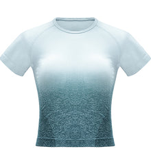 Load image into Gallery viewer, Seamless Short Sleeve Sport Crop Top - mydiscount-lk