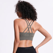 Load image into Gallery viewer, Cross back 4 way stretch bra - Dcoup.com