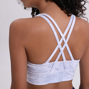 Cross back 4 way stretch bra - Dcoup.com