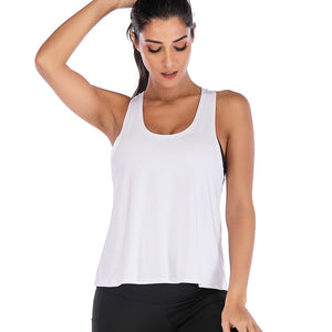 Backless Cross Tank Top - Dcoup.com