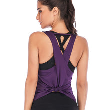 Load image into Gallery viewer, Backless Cross Tank Top - Dcoup.com
