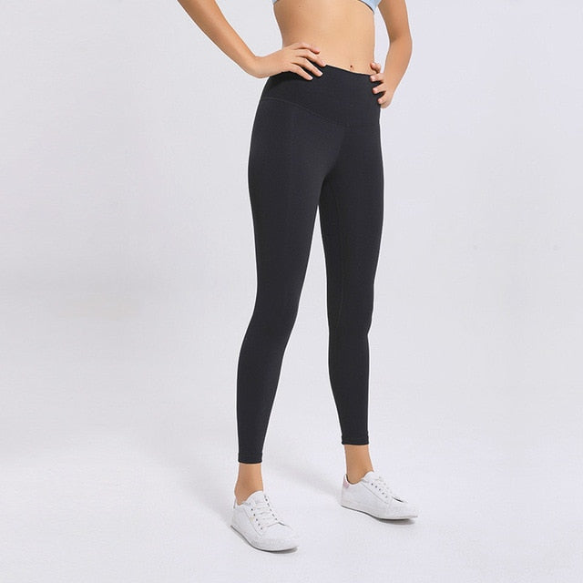 Soft Naked-Feel Athletic Fitness Leggings - Dcoup.com