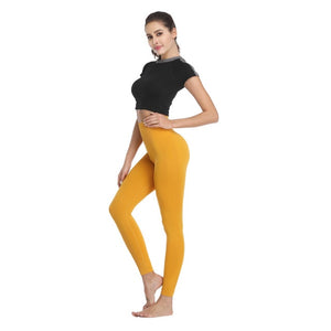 High Waisted Elastic Tummy Fitness Leggings