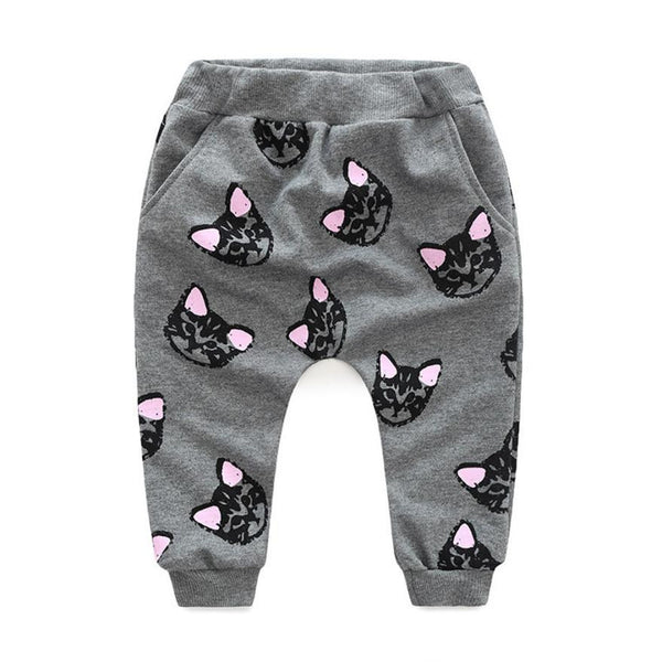 Kids baby girls clothes set winter Cat printed