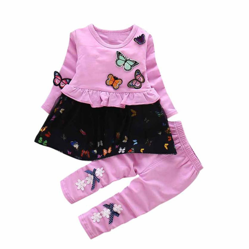 Kids Baby Girls Outfits Blouse Embroidery