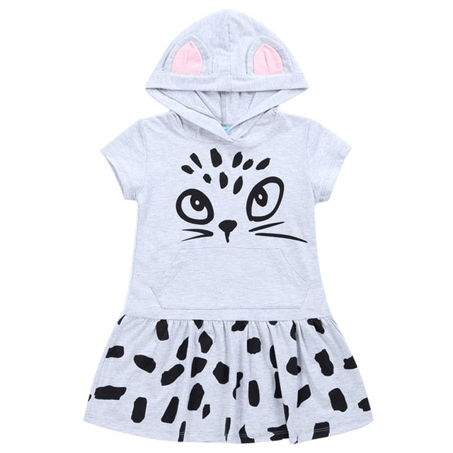 Bear Leader Girls Dresses New Summer 2018 Children Letter Striped O-Neck Style Fashion Girl Dress White Black Kids Clothes