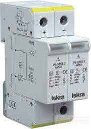 ISPRO C 80/440 (1+1), Modular Surge Protection Device (SPD) 2 Pole 40kA, 440VAC, DIN Rail Mount. For Sub Distribution Boards