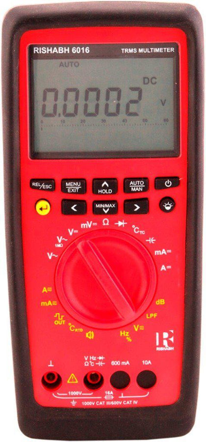 RISHABH DMM 6016 Digital Multimeter wtih Datalogger and Bluetooth, Basic Accuracy: 0.4%, TRUE RMS MEASUREMENT, Dual display measurement