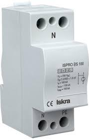 ISPRO BS(R) 25/440, Modular Surge Protection Device (SPD), 1 Pole 25kA ,440VAC, DIN Rail Mount, L/N-PE, L-PEN, L-N, N-PE High Energy MOV and GDT-Surge Protection Device-Iskra Doo-Fastron Electronics Store