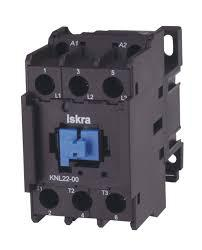 KNL22-00-24VDC  AC Contactor 240/400/500/690V, Overload 144(10s), 304(10s), 320(5s), 350(1s), 900(0.001s) (each pole), 24VDC Control Voltage, 3 Pole 3 x NO, Nominal Current = 22 Amps