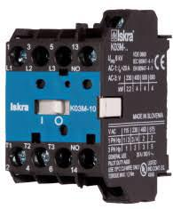K03M-10-24VAC AC Miniature Contactor 240/400/500/690V, with 24VAC Control Voltage, 4 Pole 4 x NO, Nominal Current = 15.5 Amps-Miniature AC Contactor-Iskra Doo-Fastron Electronics Store