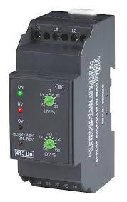 MG73BQ 3 Phase 4 Wire or Single Phase Voltage Monitoring Relay With DPDT Contacts, 3 x 120-240 VAC