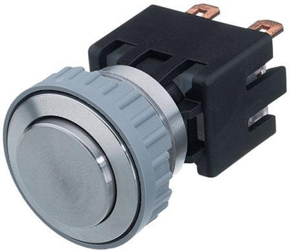 1241.6821.1110000 MSM LA 19mm, Pushbutton Switch Metal No Illumination, 10Amp @ 250VAC, 0.5 Million Ops-Disconnect Switch-Schurter-Fastron Electronics Store