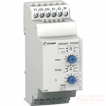 Crouzet Automation Monitoring Relay 84874320 Single Phase C-Lynx Speed Monitoring/Control Relay With SP-NO/NC Contacts, 24 - 240 V AC/DC FE-84874320