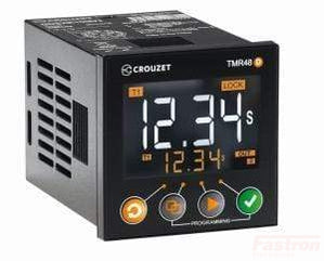 MDE1R0524U, Syr-Line Multirange Timer TMR48D, 8 Pin, Single Pole 10A CO (SPDT) Delay 0.05s - 9999h, 24VAC/DC, 48x48mm, Lock Function, Up or Down Timing