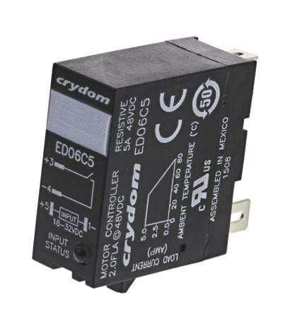 ED06D5, EMR plug in Solid State Relay, 5-15VDC control, 5 Amp 1-48V DC output