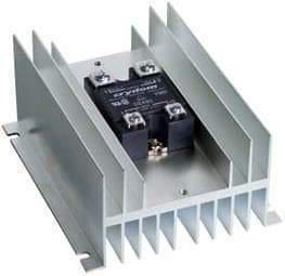 HS072 + CWD4890H, Solid State Relay, with Panel Mount Heatsink, 90-280VAC Control Input, LED Status, Varistor, High Surge, 48-660VAC Output, 74 Amps @ 40 Deg C