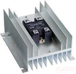HS072 + D2475-10, Solid State Relay, with Panel Mount Heatsink, 3-32VDC Control Input, LED Status Indicator, Random Crossing, 24-280VAC Output, 68 Amps @ 40 Deg C