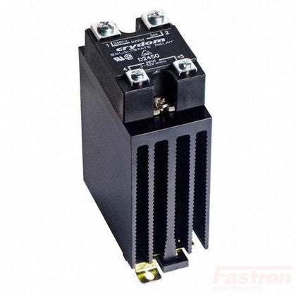 Crydom - Sensata Solid State Relay Heatsink Assembly AC Load HS151DR + CWA2450P, Panel or Din Rail Mount Solid State Relay,, 90-280VAC Control Input, LED Status, Varistor, High Surge, 24-280VAC Output, 40 Amps FE-HS151DR + CWA2450P