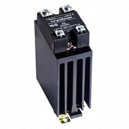Crydom - Sensata Solid State Relay Heatsink Assembly AC Load HS151DR + CWD2450P, Panel or Din Rail Mount Solid State Relay,, 3-32VDC Control Input, LED Status, Varistor, High Surge, 24-280VAC Output, 40 Amps FE-HS151DR + CWD2450P