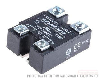 Crydom - Sensata Solid State Relay Single Phase Angle Power Controller AC Load 10PCV2425, 2-10V Input Proportional Controller, 100-240VAC, 25 Amp FE-10PCV2425