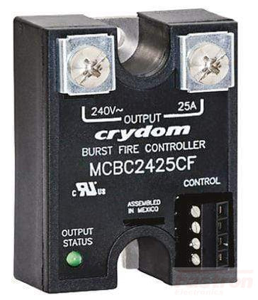 Crydom - Sensata Solid State Relay Single Phase Burst Power Controller AC Load MCBC4850CF, Solid Sate Relay based Burst Fire Controller, 480VAC, 50 Amp, 0-10V Input, 20 Cycles FE-MCBC4850CF