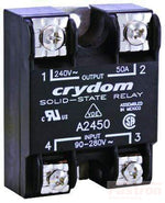 A24125, Solid State Relay, Single Phase 90-280VAC Control, 125A, 24-280VAC Load