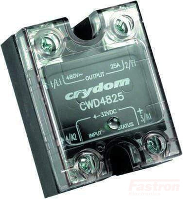 CSW2450, Solid State Relay, Single Phase 3-32VDC Control, 50A, 24-280VAC Load, Low off state Leakage