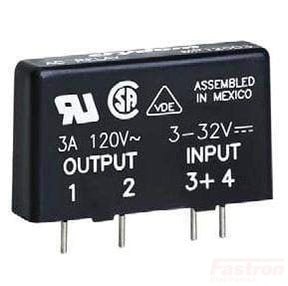 MP240D4, Solid State Relay, Single Phase PCB Mount 3-32VDC Control, 4A, 24-280VAC Load