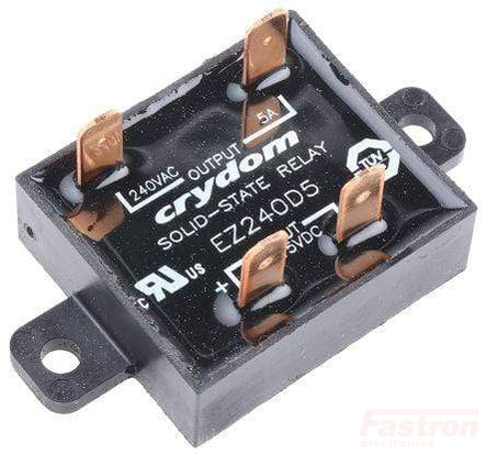 EZ240D18R, Solid State Relay, 4-15VDC control, 18A, 24-280VAC Load, Random Crossing, Faston