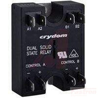 H12D4840DE, Dual Solid State Relay, Single Phase 15-32VDC Control, 25A, 48-530VAC Load