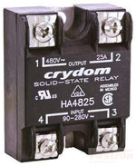 HA48125, Solid State Relay, Single Phase 90-280VAC Control, 125A, 48-530VAC Load